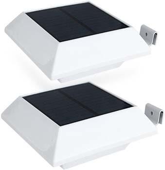 8: Hoshine Solar Gutter Lights Motion Sensor Outdoor Security Light