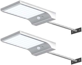 5: InnoGear Solar Gutter Lights Wall Sconces