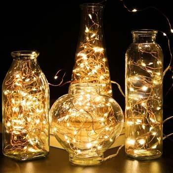 7: GDEALER TS11 4 Pack 16.4 Feet 50 Led Fairy Lights