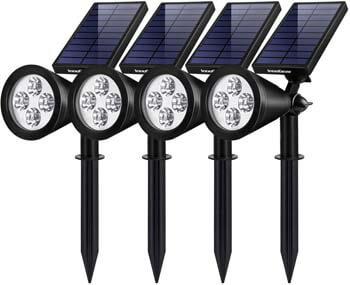 2: InnoGear Solar Lights Outdoor, Upgraded Waterproof Solar Powered Landscape Spotlights
