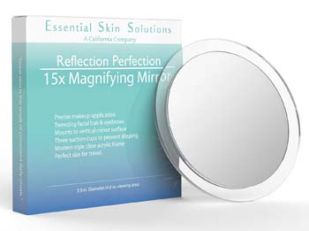 5: Essential Skin Solutions 15X Magnifying Mirror
