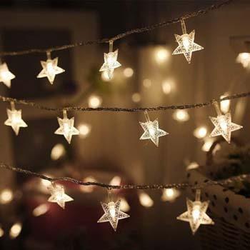 5: Twinkle Star 100 LED 49 FT Star String Lights