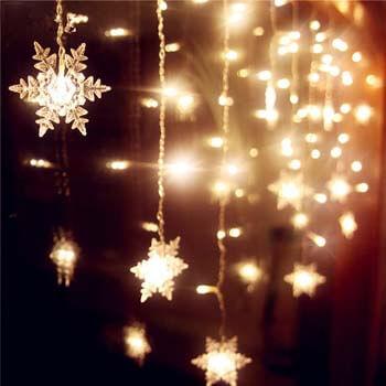 1: Senofun Snowflakes LED Curtain Lights