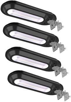 4: ROSHWEY Solar Gutter Lights Outdoor