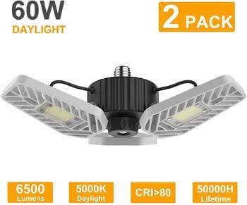 1: LZHOME 2-Pack LED Garage Lights