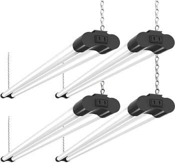 5: Bbounder 4 Pack Linkable LED Utility Shop Light