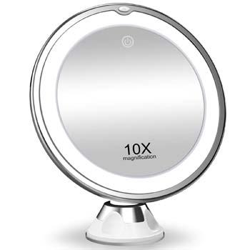 1: KOOLORBS 10X Magnifying Makeup Mirror