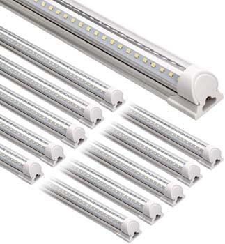 4: Barrina LED Shop Light, 8FT 72W 9000LM 5000K, Daylight White