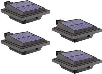 7: HOMEONE Solar Gutter Lights