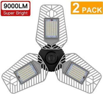 6: LZHOME 2-Pack LED Garage Lights