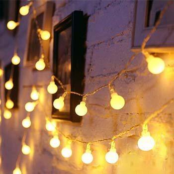 9: LED Globe String Lights Twinkle Lights