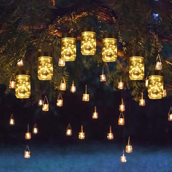 6: Solpex 30 LEDs Hanging Solar Lights Outdoors