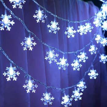 5: KFK 32.8ft Snowflake Lights String
