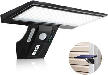 10: JESLED Solar Flood Lights Outdoor Motion Sensor